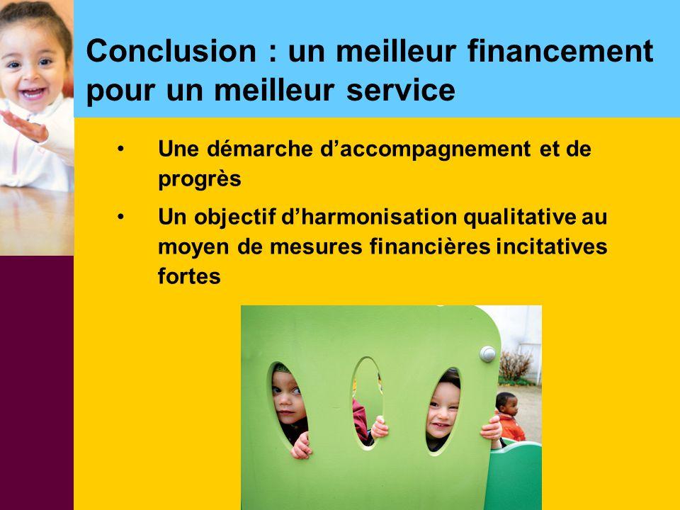 Conclusion : un meilleur financement pour un meilleur service