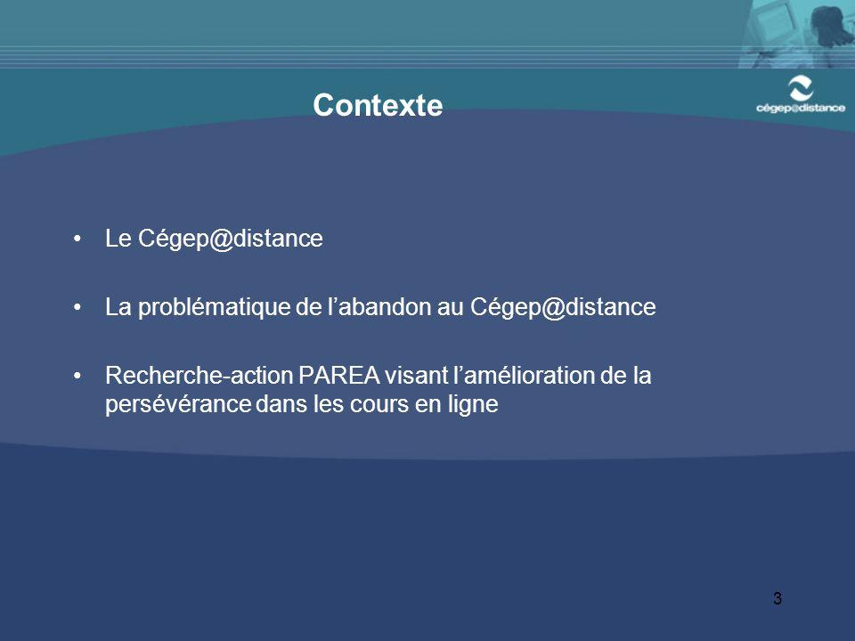 Contexte Le Cégep@distance