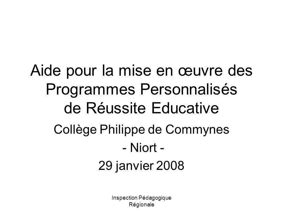 Collège Philippe de Commynes - Niort - 29 janvier 2008