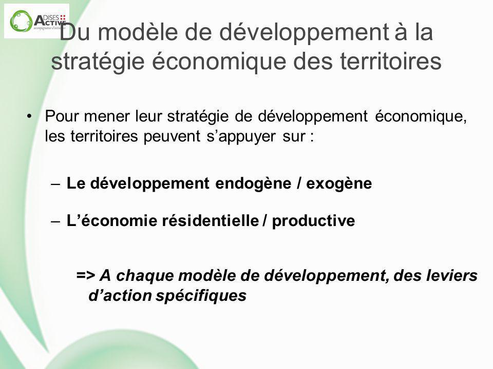 Du modèle de développement à la stratégie économique des territoires