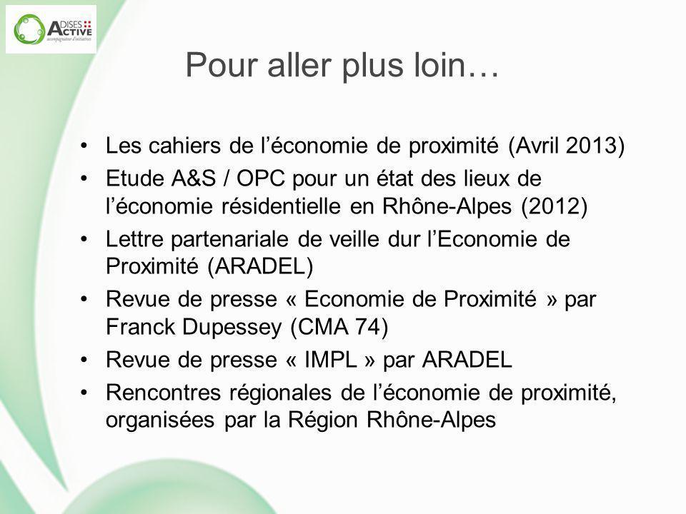 Pour aller plus loin… Les cahiers de l'économie de proximité (Avril 2013)