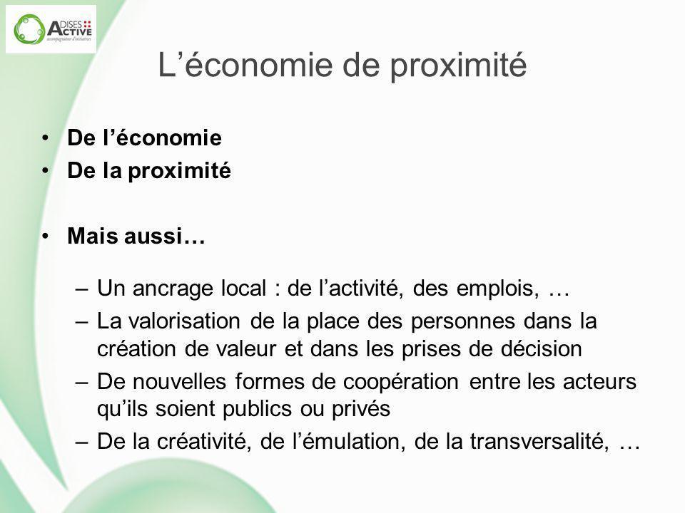 L'économie de proximité