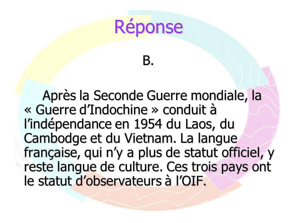 Réponse B.