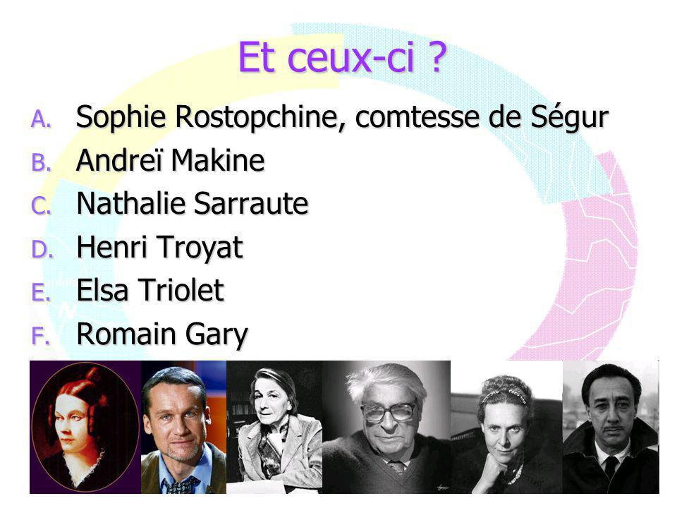Et ceux-ci Sophie Rostopchine, comtesse de Ségur Andreï Makine