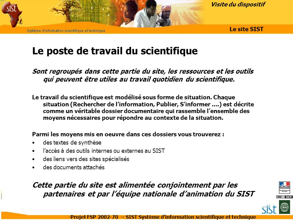 Le poste de travail du scientifique