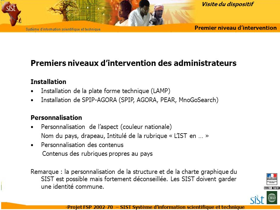 Premier niveau d'intervention