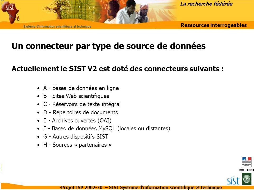 Ressources interrogeables