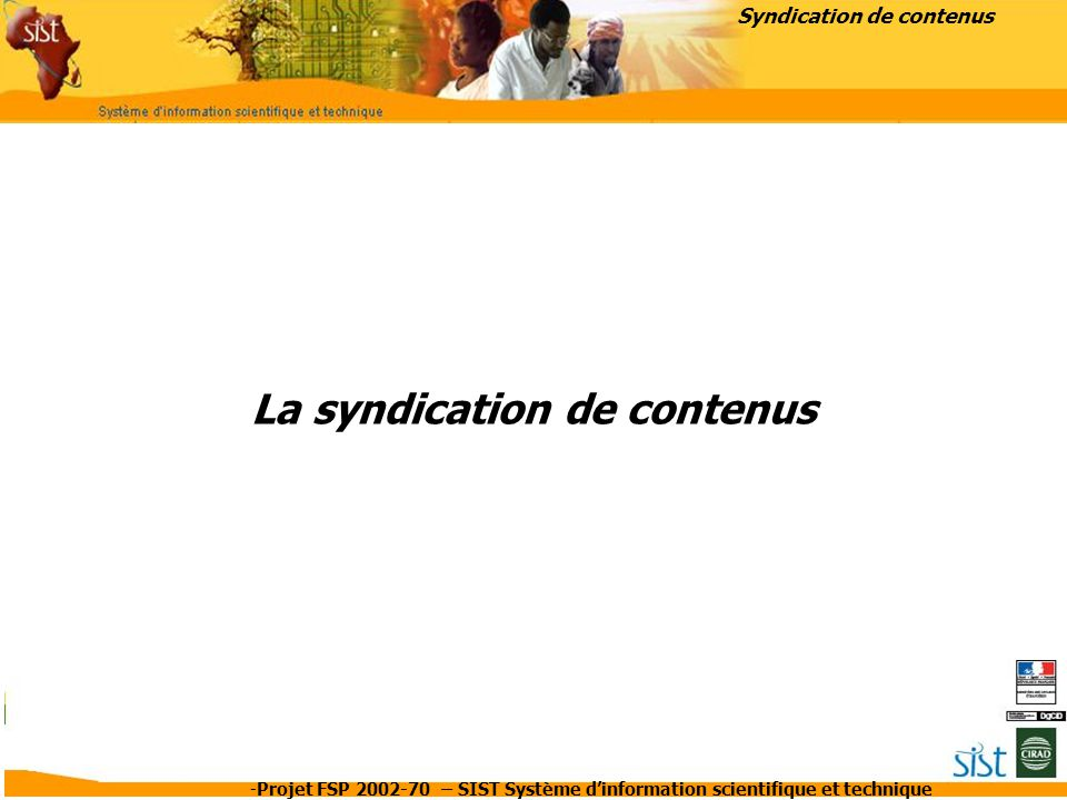La syndication de contenus