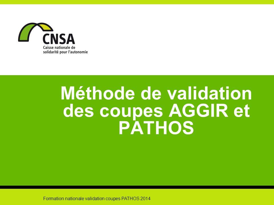 Méthode de validation des coupes AGGIR et PATHOS