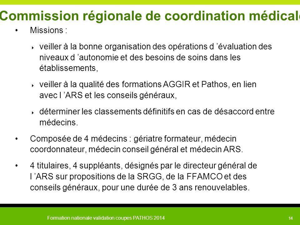 Commission régionale de coordination médicale