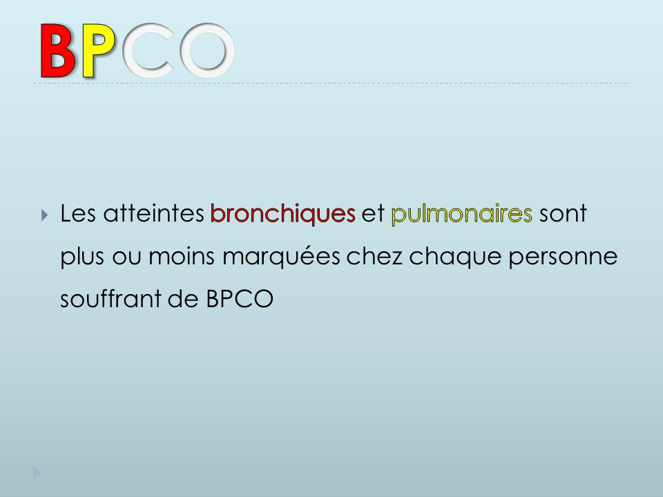 B P. C. O.