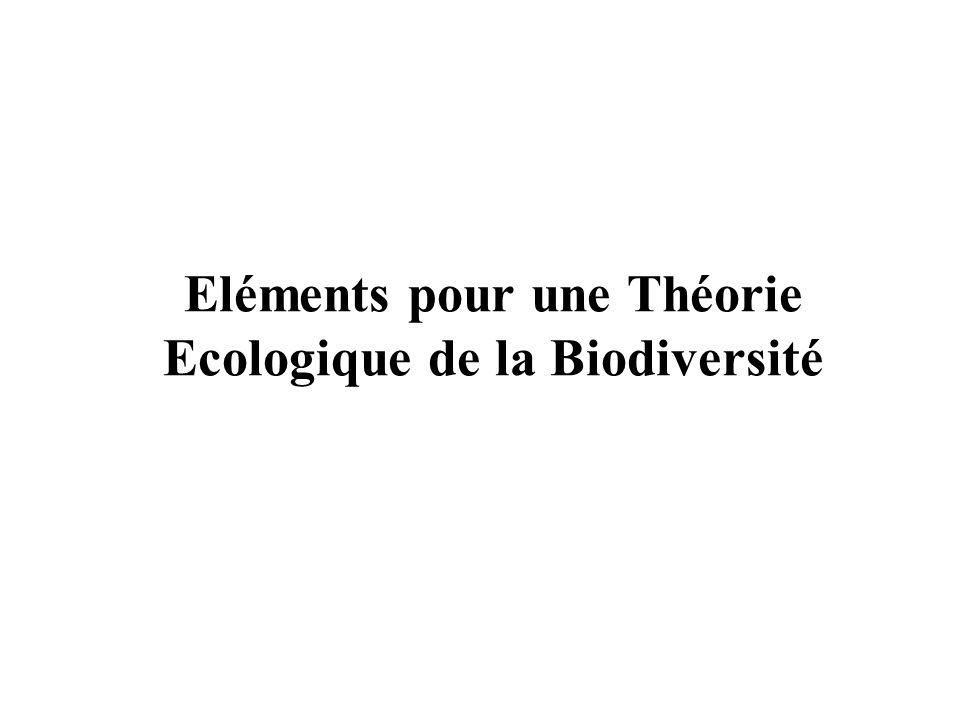 Eléments pour une Théorie Ecologique de la Biodiversité