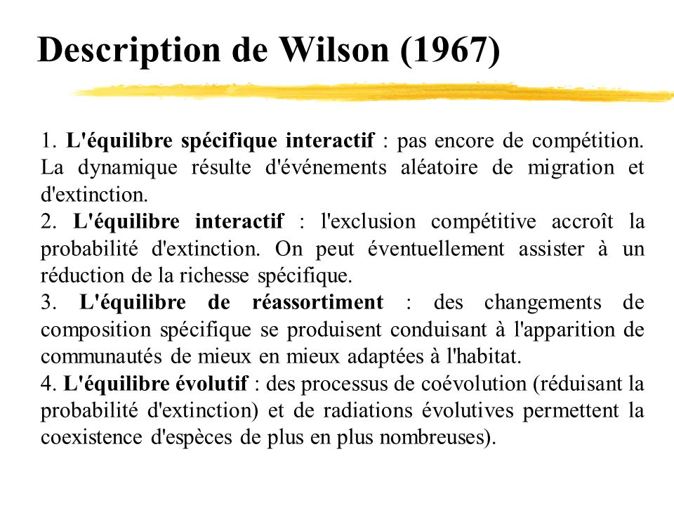 Description de Wilson (1967)