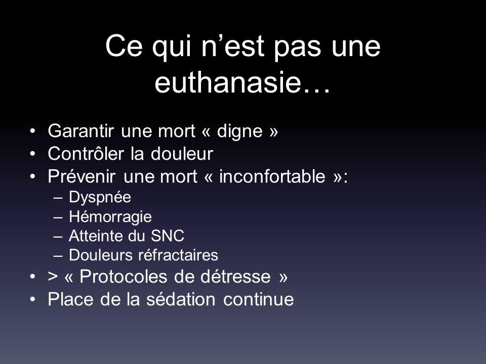 Ce qui n'est pas une euthanasie…