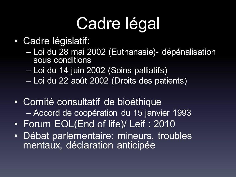 Cadre légal Cadre législatif: Comité consultatif de bioéthique