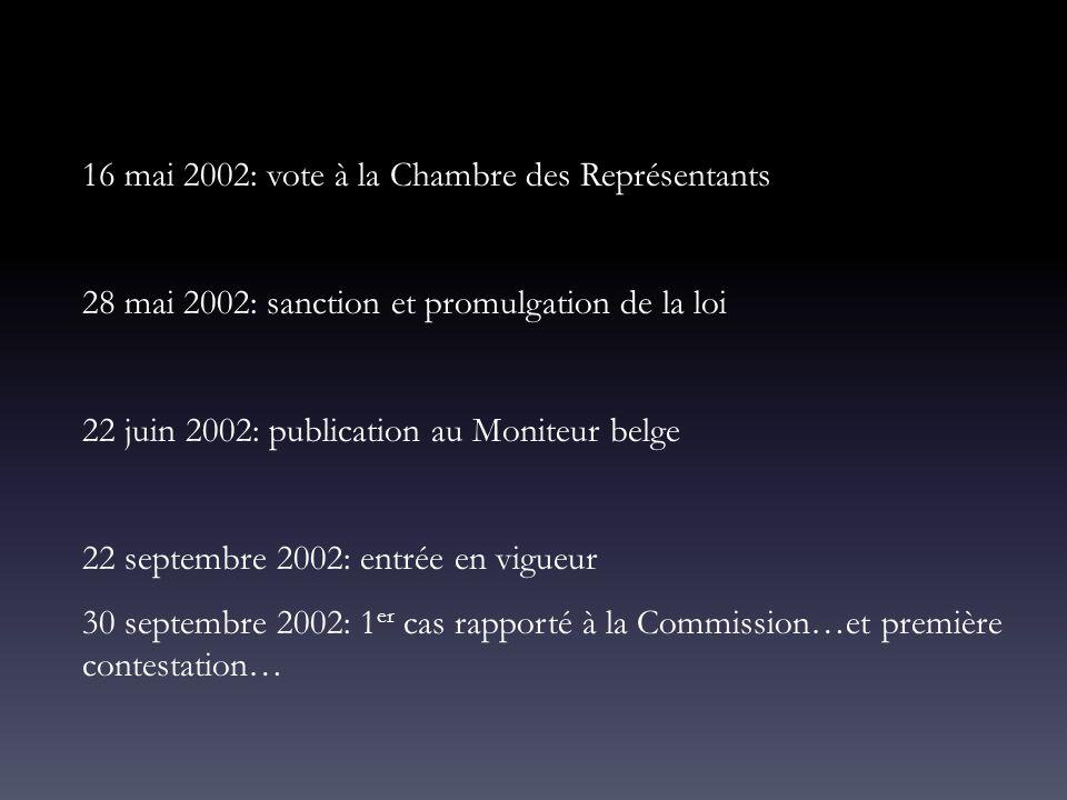16 mai 2002: vote à la Chambre des Représentants