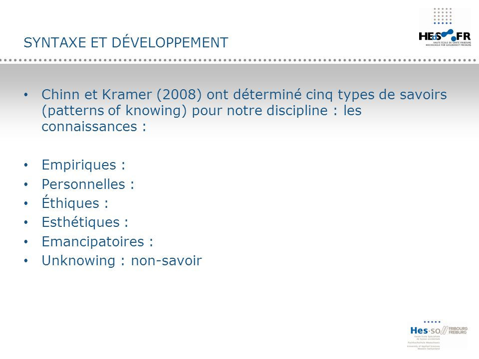 Syntaxe et développement