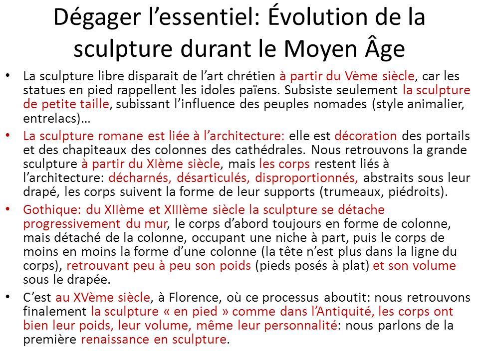 Dégager l'essentiel: Évolution de la sculpture durant le Moyen Âge