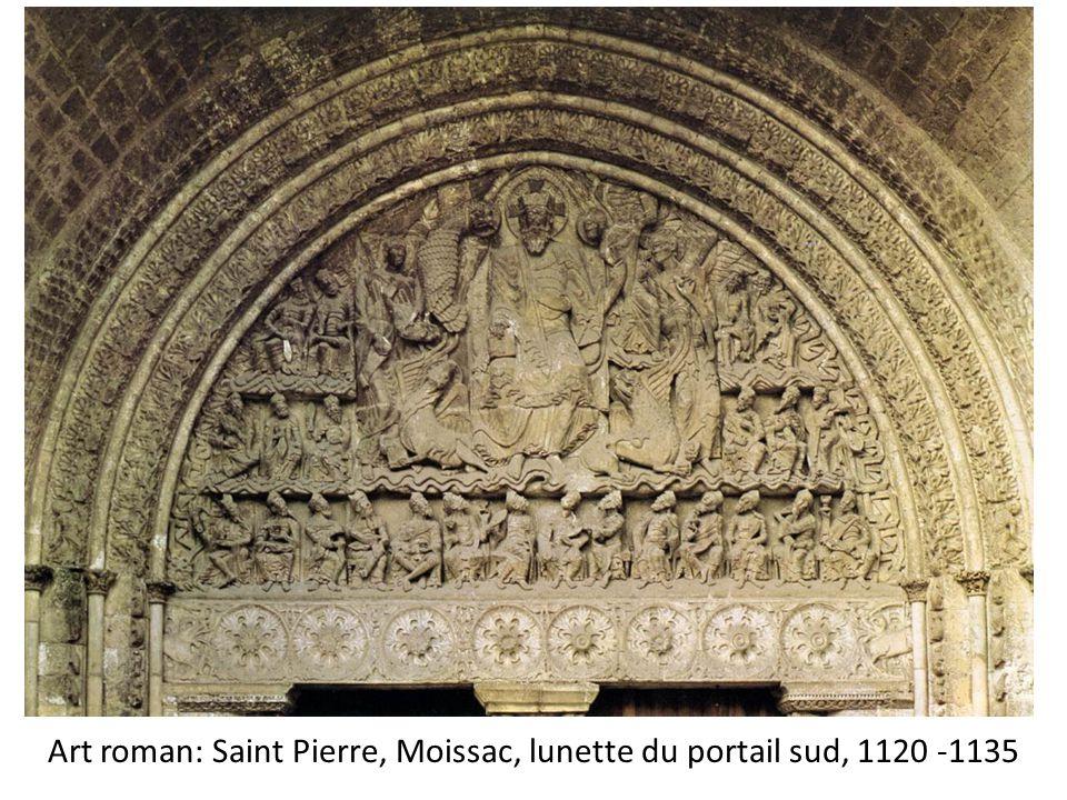 Art roman: Saint Pierre, Moissac, lunette du portail sud, 1120 -1135