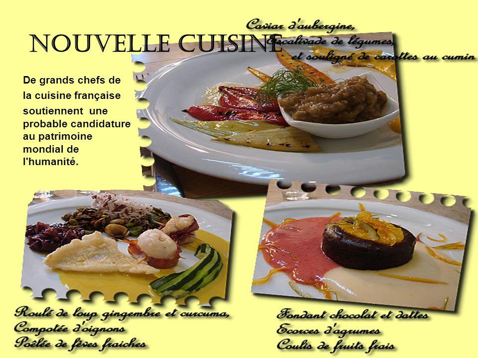 Nouvelle cuisine De grands chefs de la cuisine française