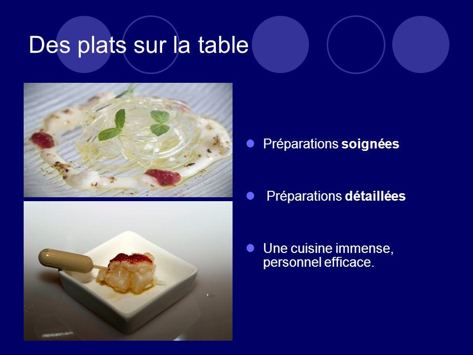 Des plats sur la table Préparations soignées Préparations détaillées