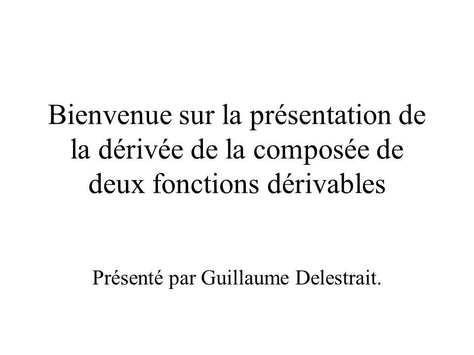 Présenté par Guillaume Delestrait.