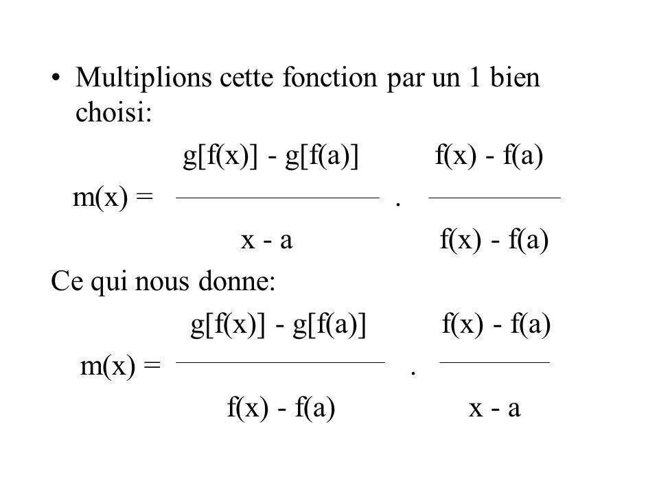 Multiplions cette fonction par un 1 bien choisi: