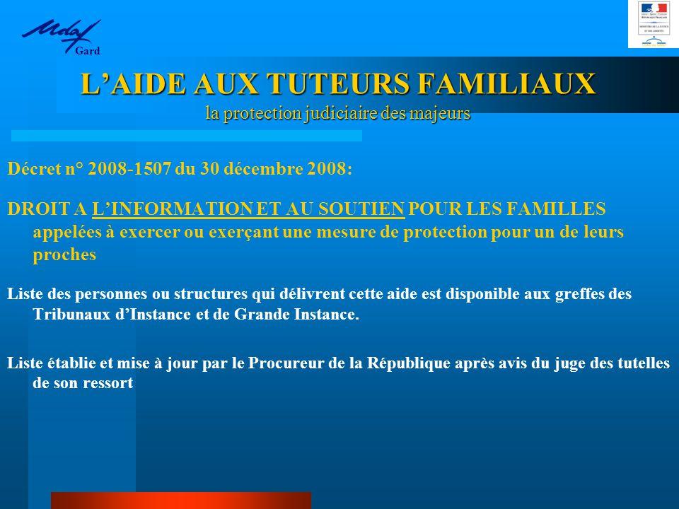 L'AIDE AUX TUTEURS FAMILIAUX la protection judiciaire des majeurs