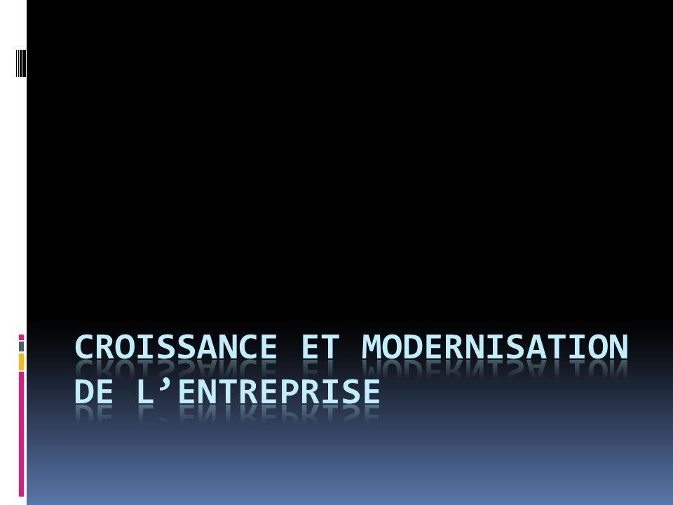 Croissance et modernisation de l'entreprise