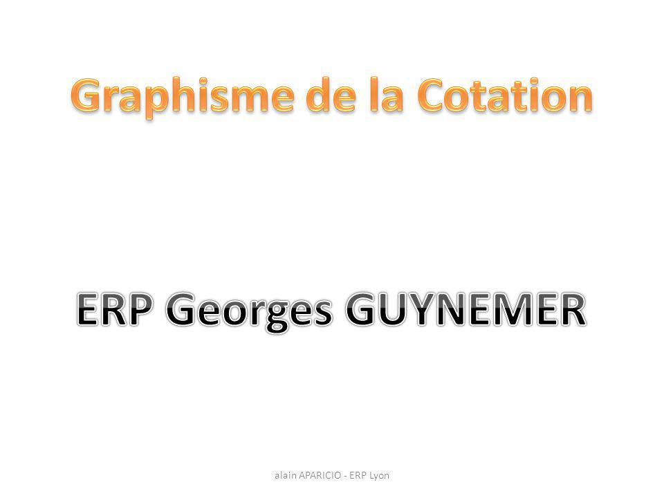 Graphisme de la Cotation