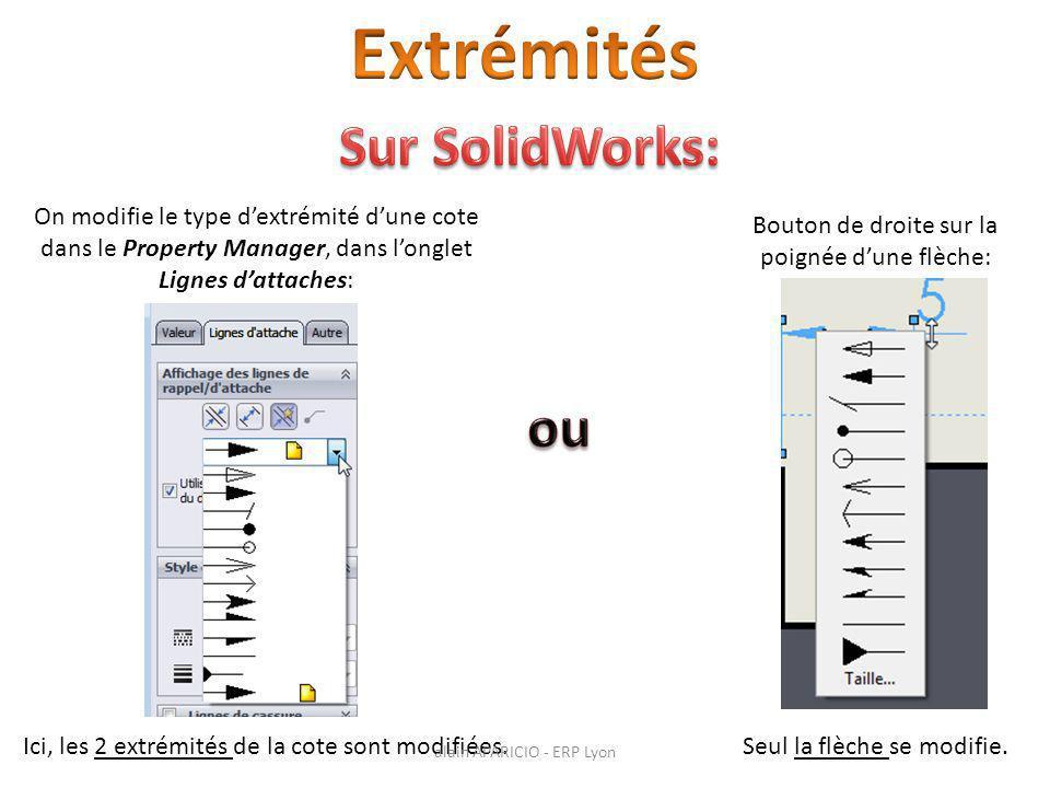 Extrémités Sur SolidWorks: ou