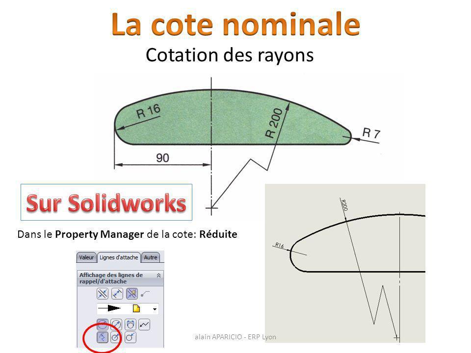 La cote nominale Sur Solidworks Cotation des rayons