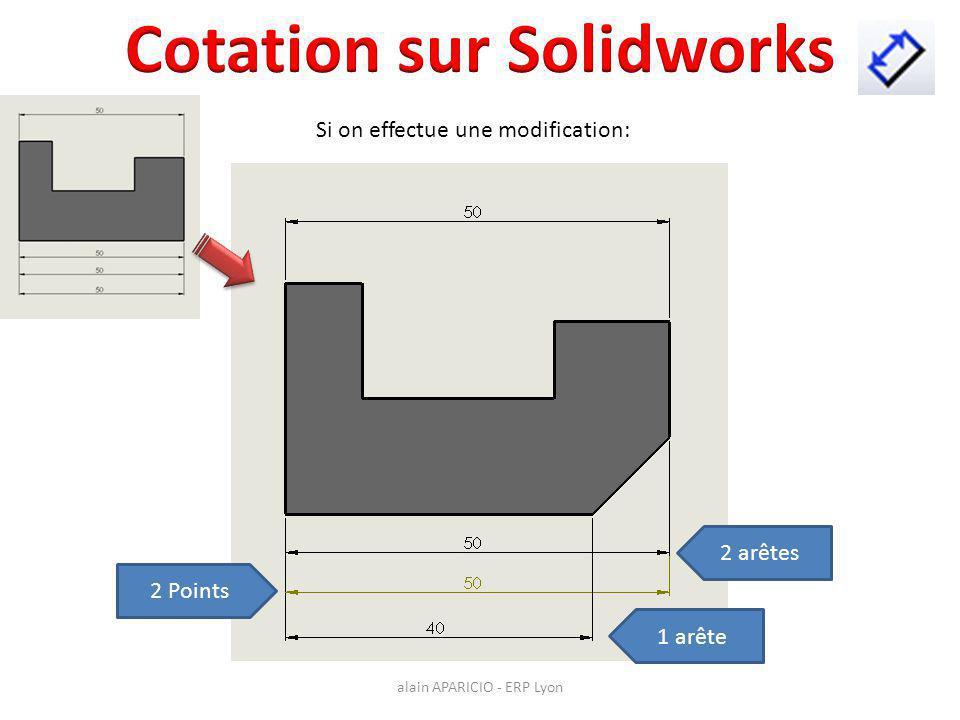 Cotation sur Solidworks