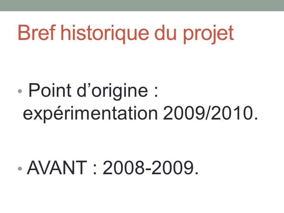 Bref historique du projet