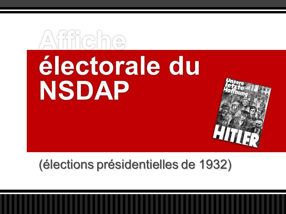 Affiche électorale du NSDAP