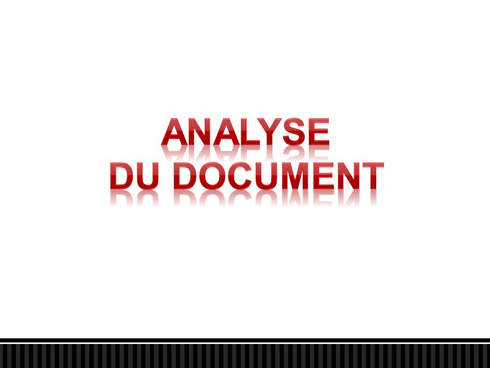 ANALYSE du document