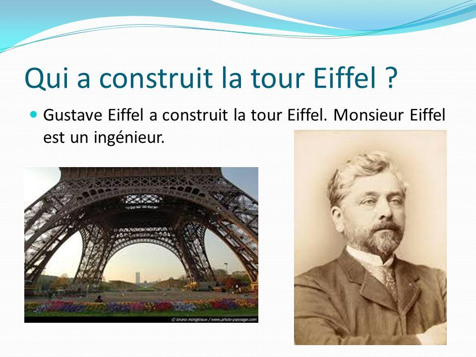 Qui a construit la tour Eiffel
