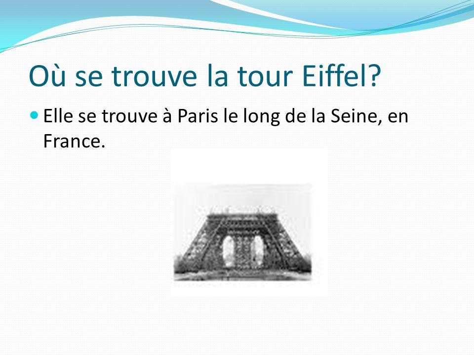Où se trouve la tour Eiffel