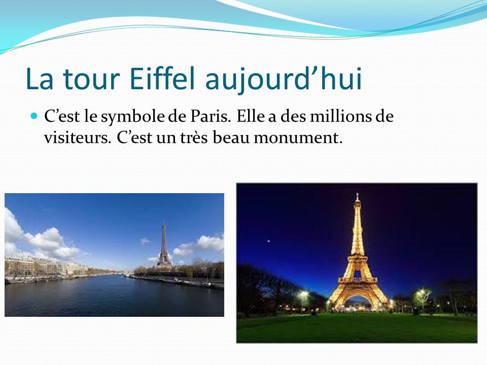 La tour Eiffel aujourd'hui