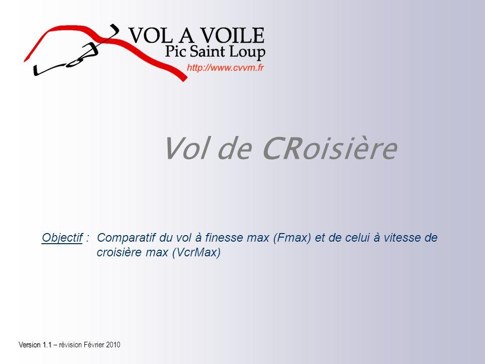 Vol de CRoisière Objectif :