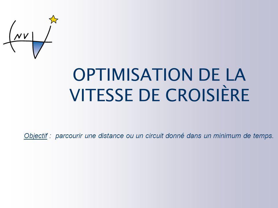 OPTIMISATION DE LA VITESSE DE CROISIÈRE