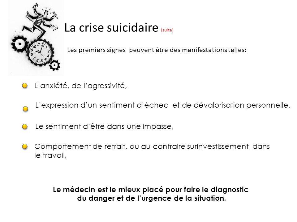 La crise suicidaire (suite)