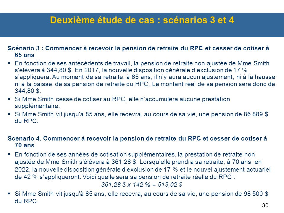 Deuxième étude de cas : scénarios 3 et 4