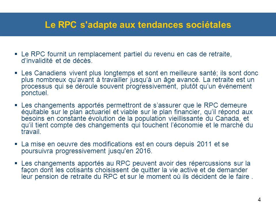 Le RPC s adapte aux tendances sociétales