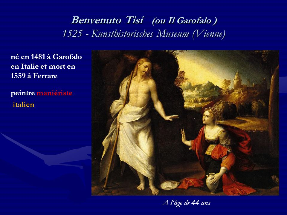 Benvenuto Tisi (ou Il Garofalo ) 1525 - Kunsthistorisches Museum (Vienne)