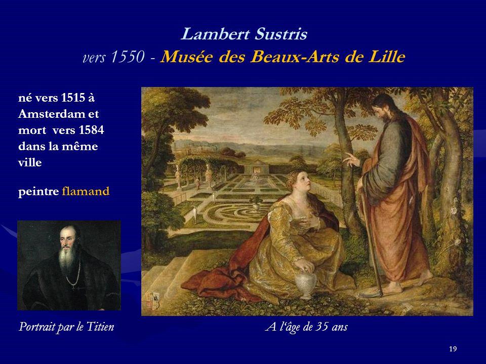 Lambert Sustris vers 1550 - Musée des Beaux-Arts de Lille