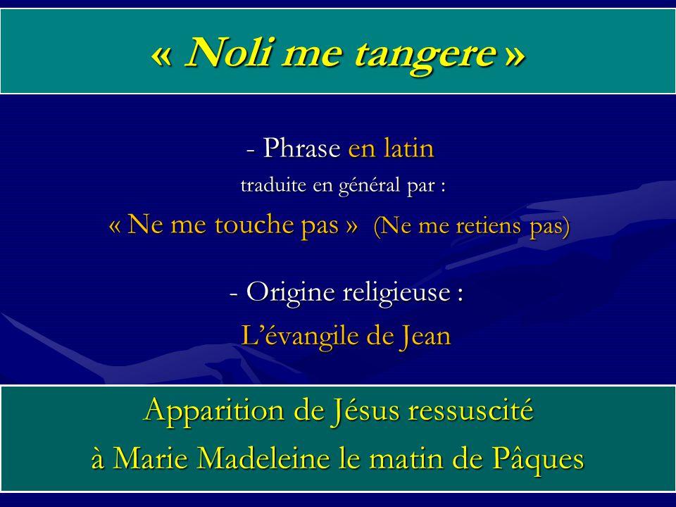 « Noli me tangere » Apparition de Jésus ressuscité