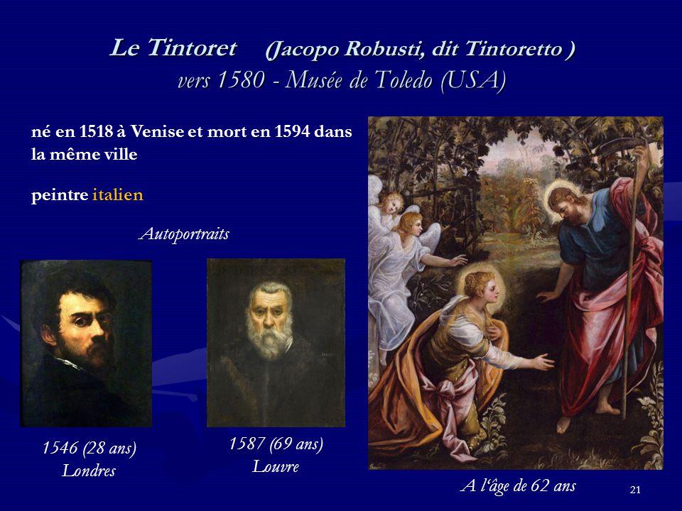 Le Tintoret (Jacopo Robusti, dit Tintoretto ) vers 1580 - Musée de Toledo (USA)