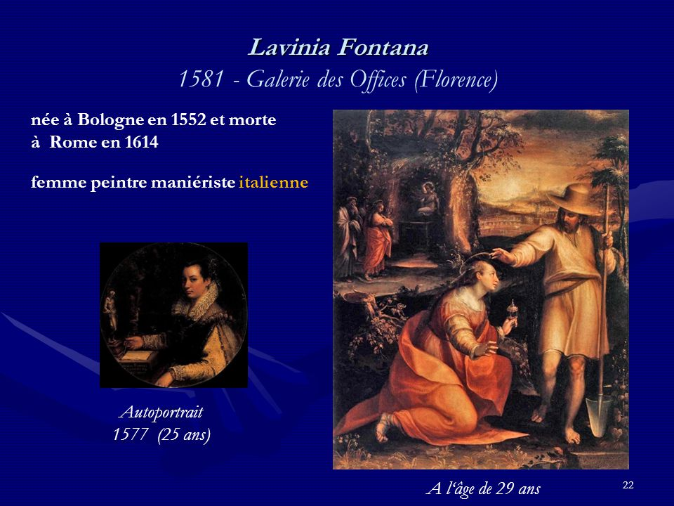 Lavinia Fontana 1581 - Galerie des Offices (Florence)