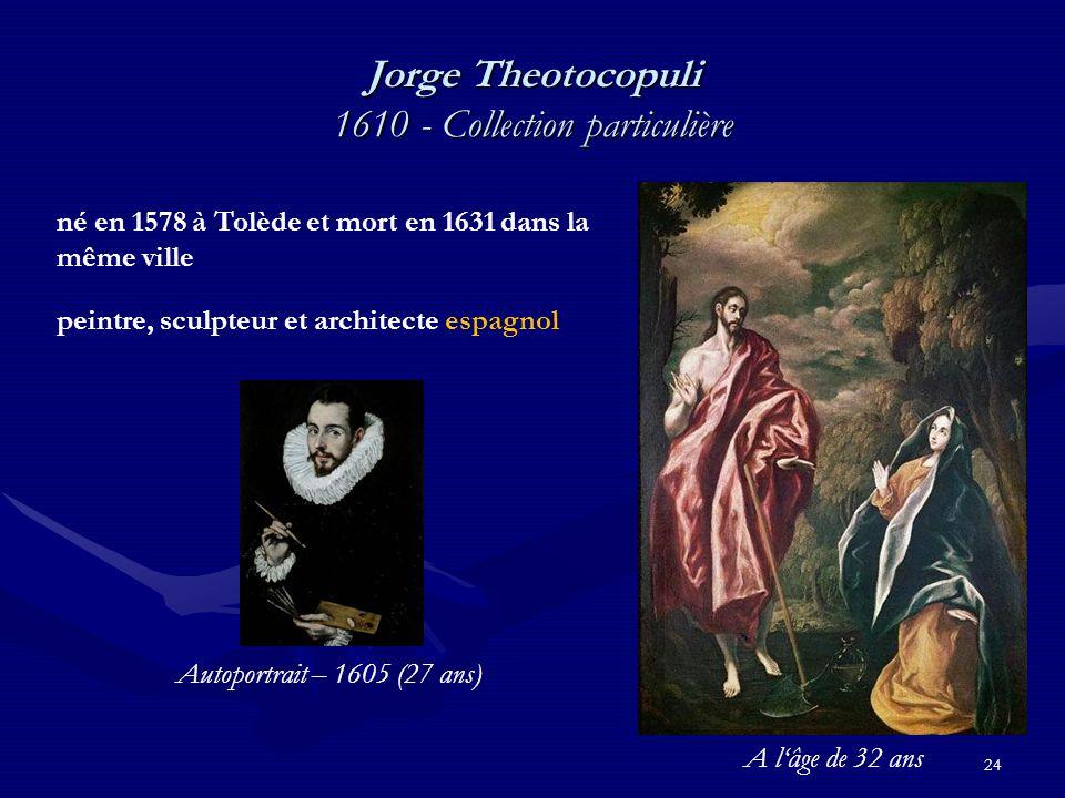 Jorge Theotocopuli 1610 - Collection particulière